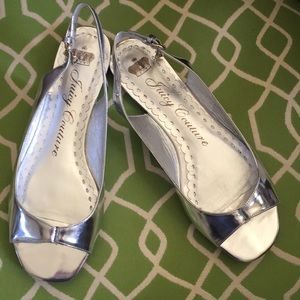 Juicy Couture silver sandals